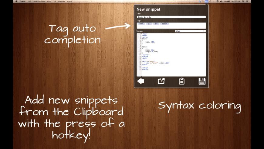 SnipCode for Mac - review, screenshots