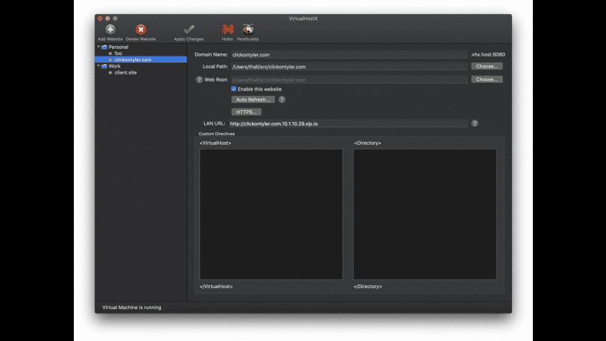 VirtualHostX for Mac - review, screenshots