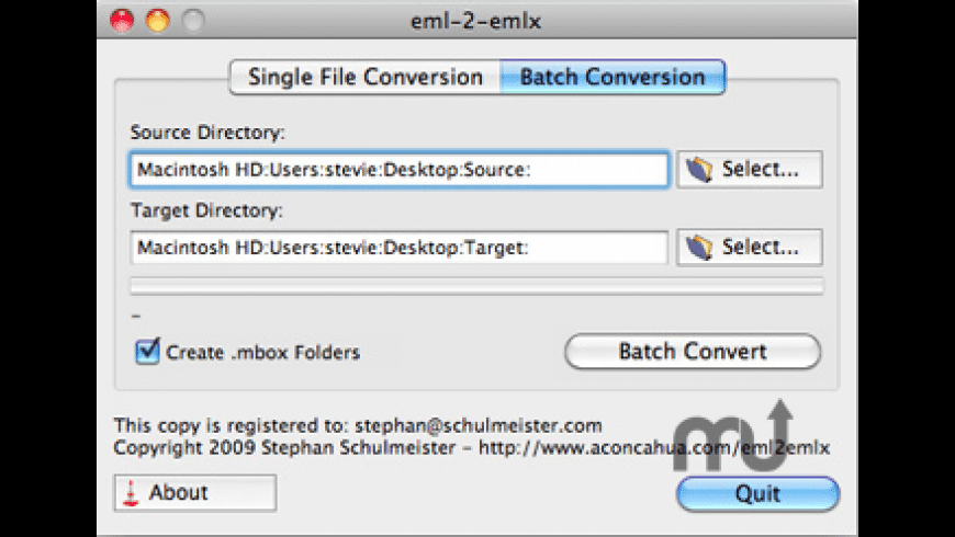 eml-2-emlx for Mac - review, screenshots