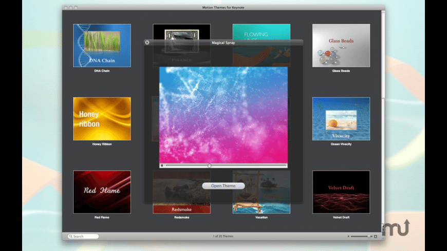 Motion Themes for Keynote for Mac - review, screenshots