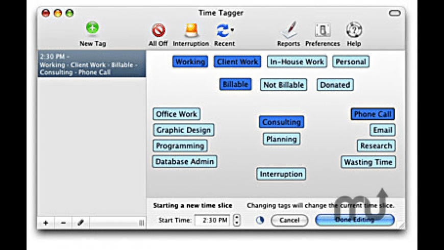 Time Tagger for Mac - review, screenshots