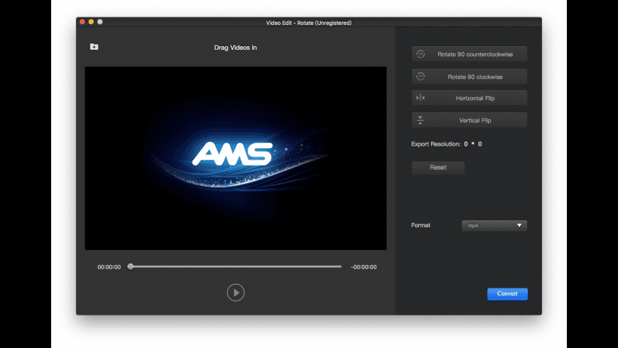AMS Video Rotate for Mac - review, screenshots