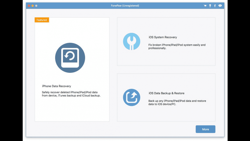 FonePaw iPhone Data Recovery for Mac - review, screenshots