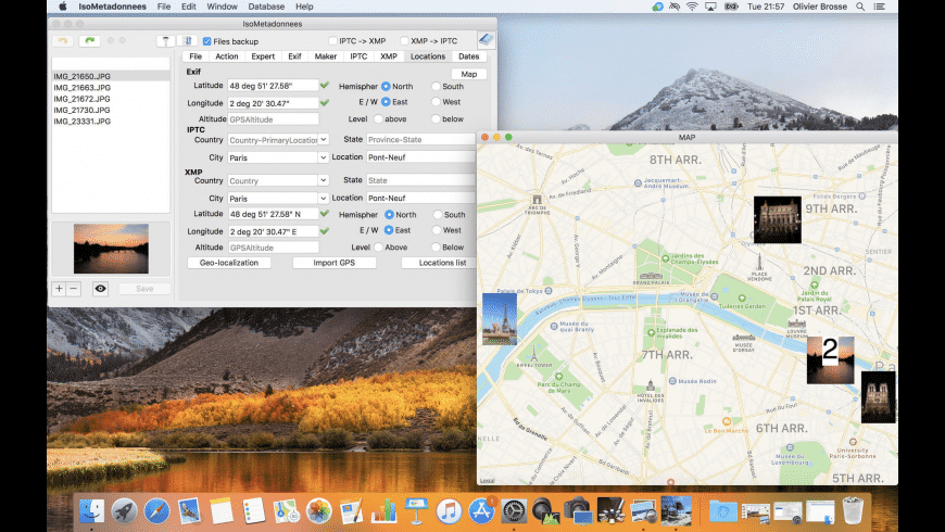 IsoMétadonnées for Mac - review, screenshots