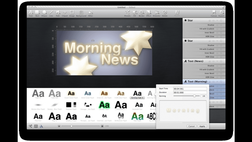 Animationist for Mac - review, screenshots