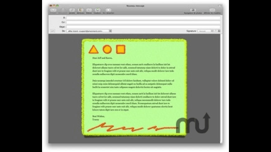 Graffiti Mail Stationery Pack for Mac - review, screenshots