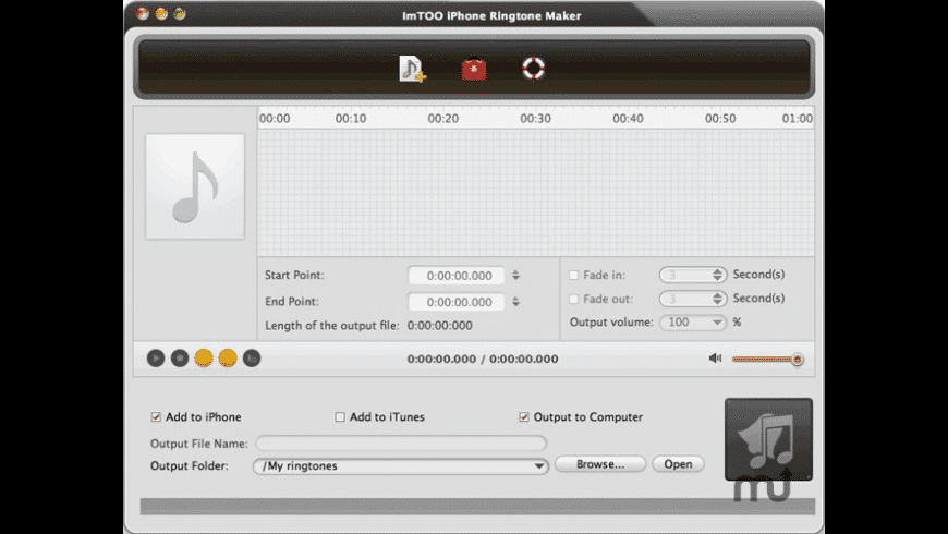 ImTOO iPhone Ringtone Maker for Mac - review, screenshots