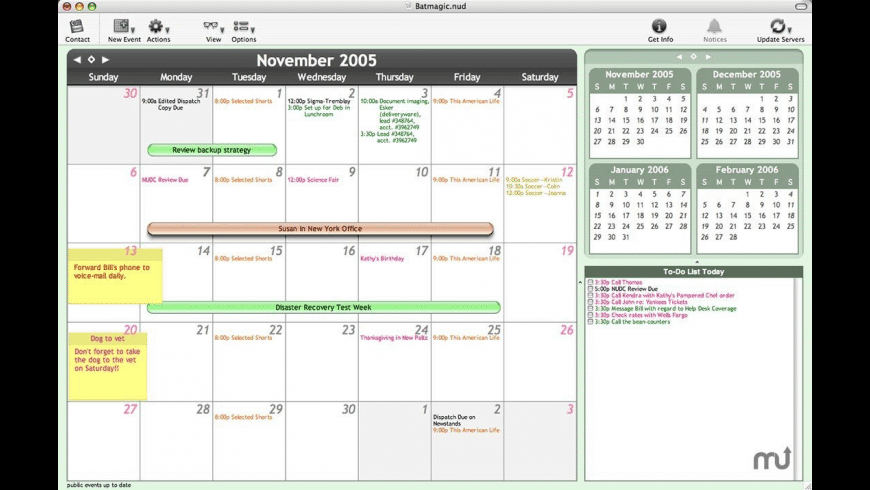 NUD to iCal for Mac - review, screenshots