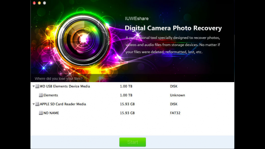 Digital Camera Photo Recovery for Mac - review, screenshots