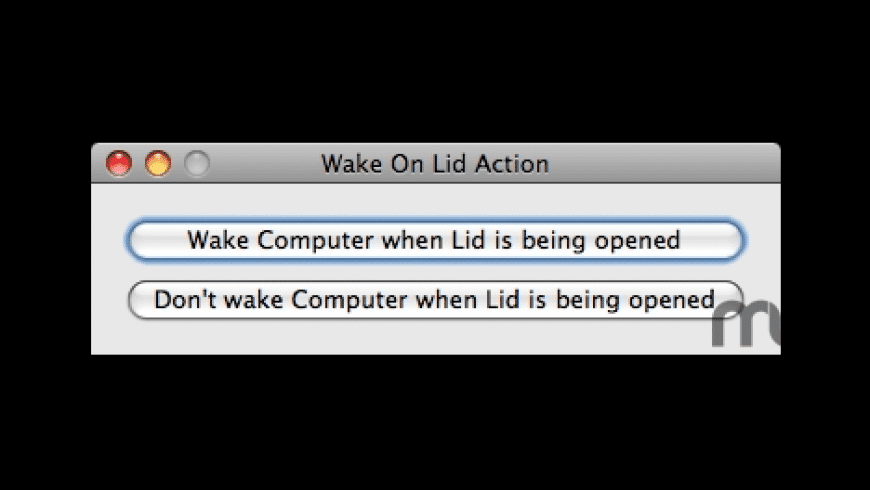 WakeOnLidAction for Mac - review, screenshots