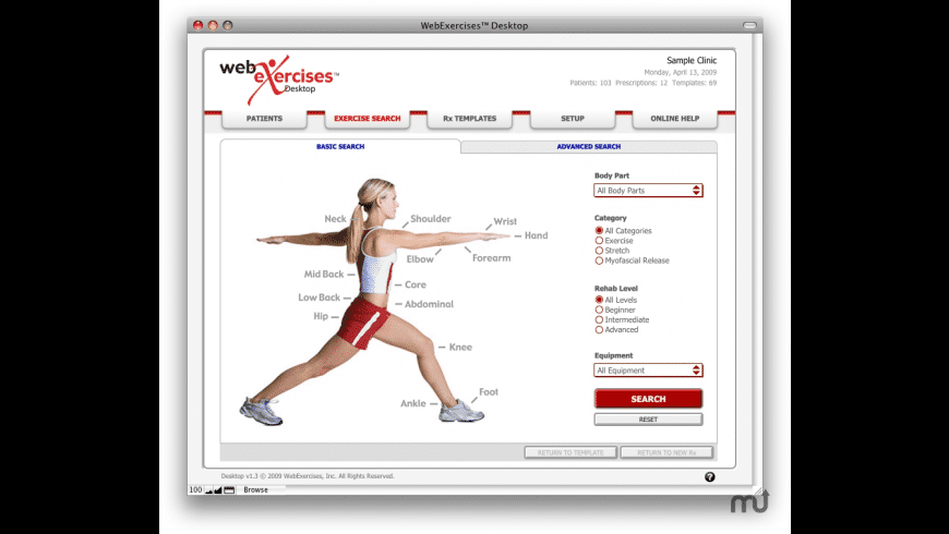 WebExercises Desktop for Mac - review, screenshots