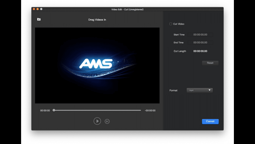 AMS Video Cutter for Mac - review, screenshots