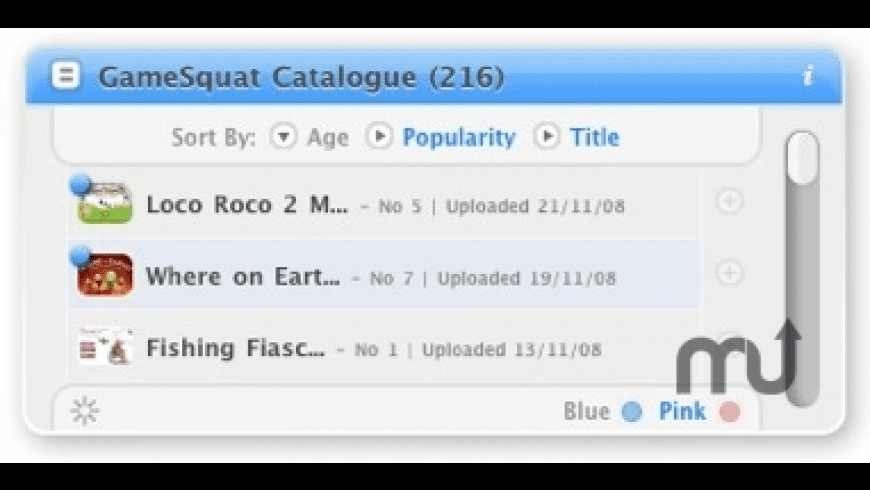 GameSquat Widget for Mac - review, screenshots