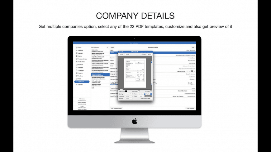 Moon Invoice for Mac - review, screenshots