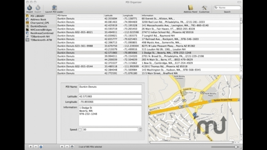POI Organizer for Mac - review, screenshots