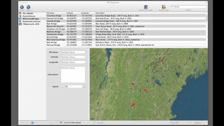 POI Organizer for Mac - review, screenshots