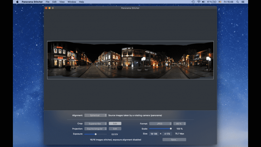 Panorama Stitcher for Mac - review, screenshots