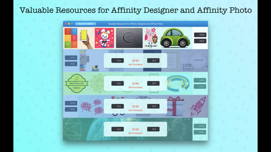 Artbox for Affinity for Mac - review, screenshots