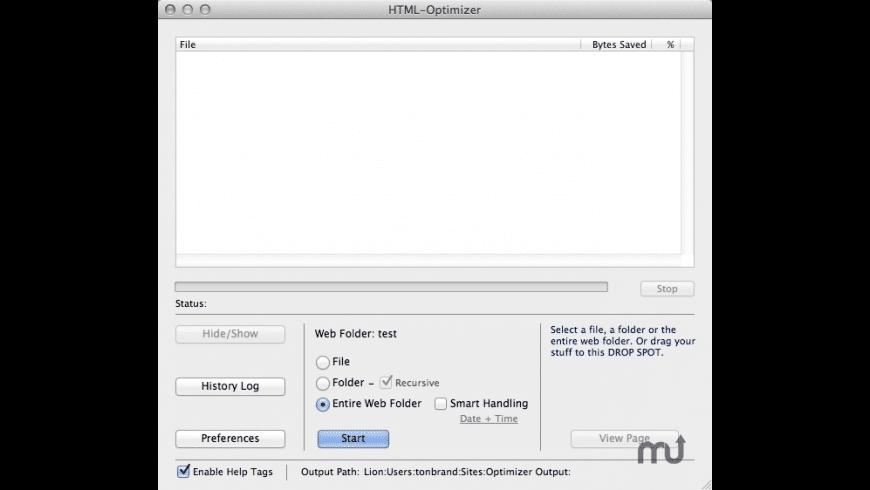 HTML-Optimizer for Mac - review, screenshots