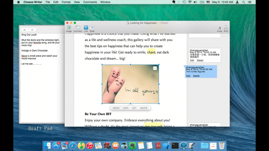 Cheese Writer for Mac - review, screenshots