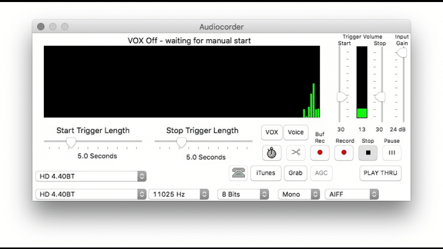 Audiocorder for Mac - review, screenshots