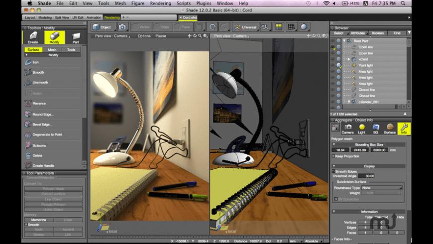 Shade 3D Standard for Mac - review, screenshots