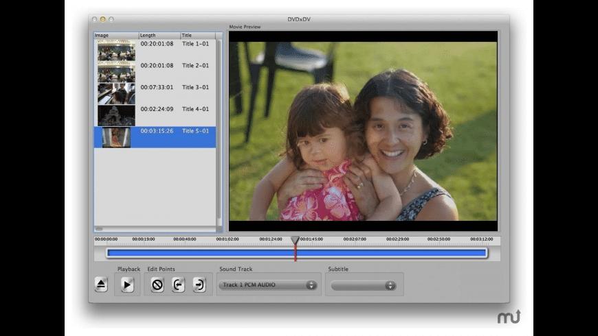DVDxDV for Mac - review, screenshots