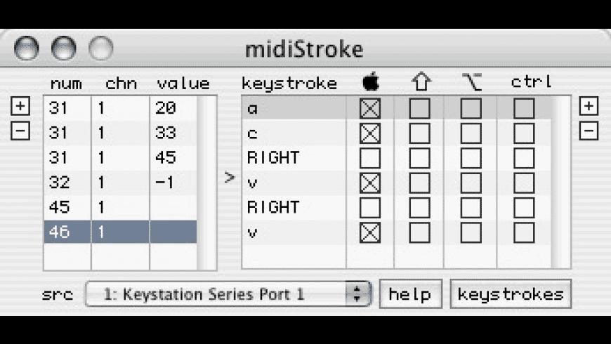 midiStroke for Mac - review, screenshots