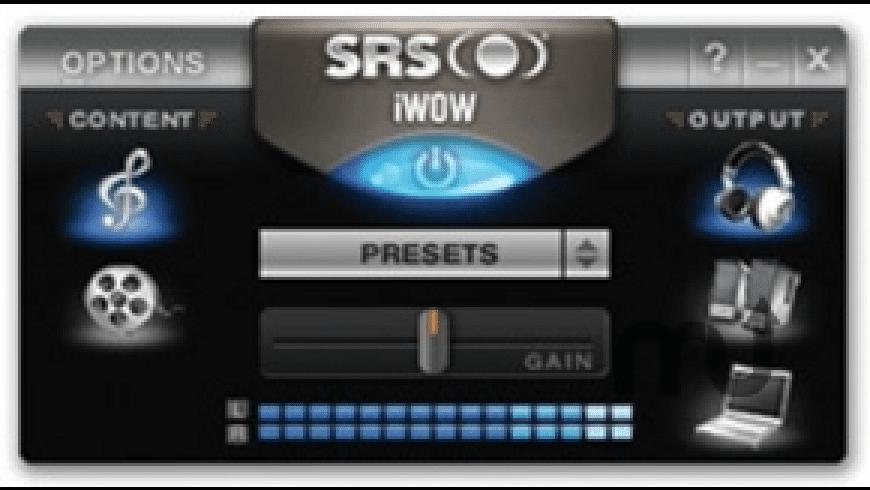 SRS iWOW Premium 3.0 for Mac - review, screenshots