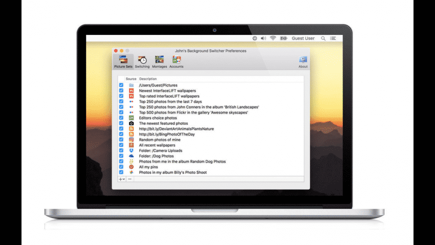 John's Background Switcher for Mac - review, screenshots