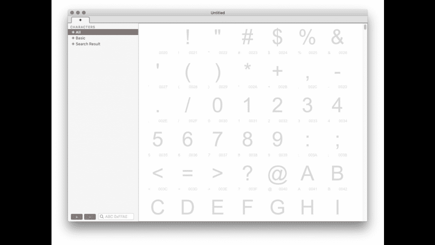 Crossfont for Mac - review, screenshots