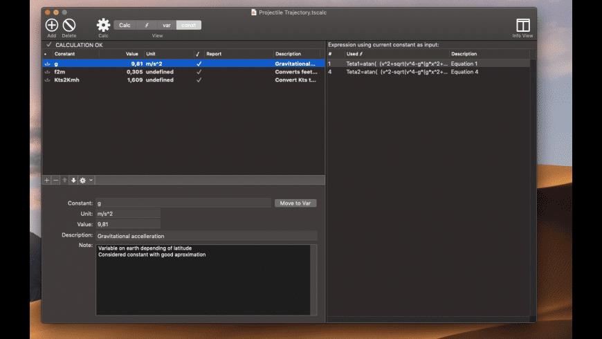 TS Calc for Mac - review, screenshots