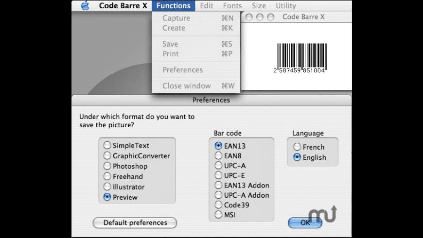Code Barre X for Mac - review, screenshots
