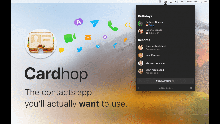 Cardhop for Mac - review, screenshots
