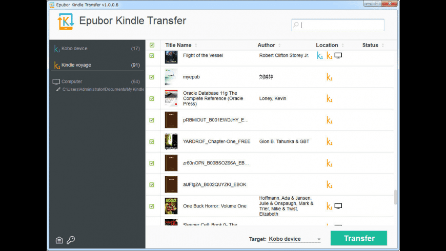 Kindle Transfer for Mac - review, screenshots