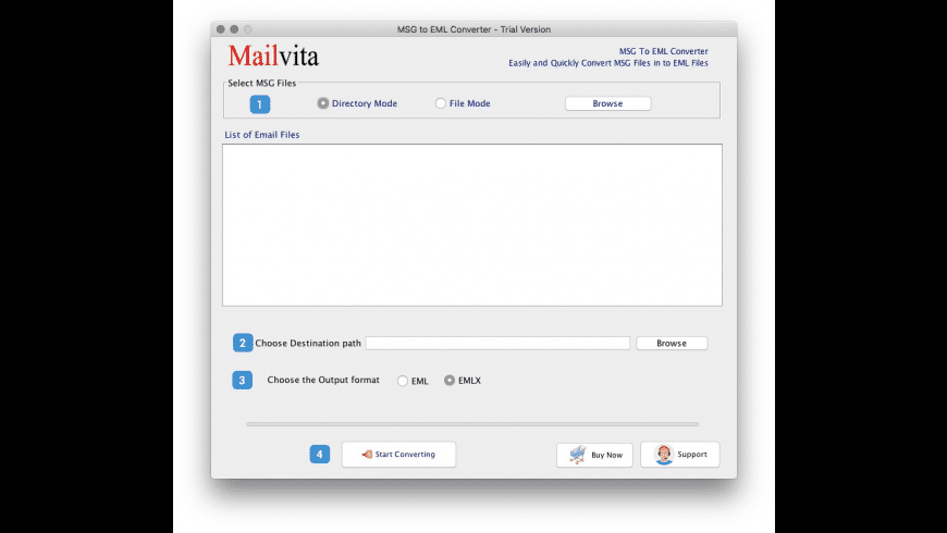 MSG to EML Converter for Mac - review, screenshots