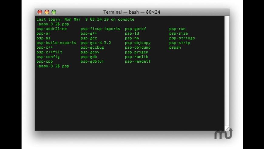 PSPSDK for Mac - review, screenshots