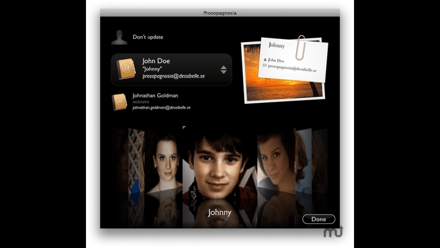 Prosopagnosia for Mac - review, screenshots