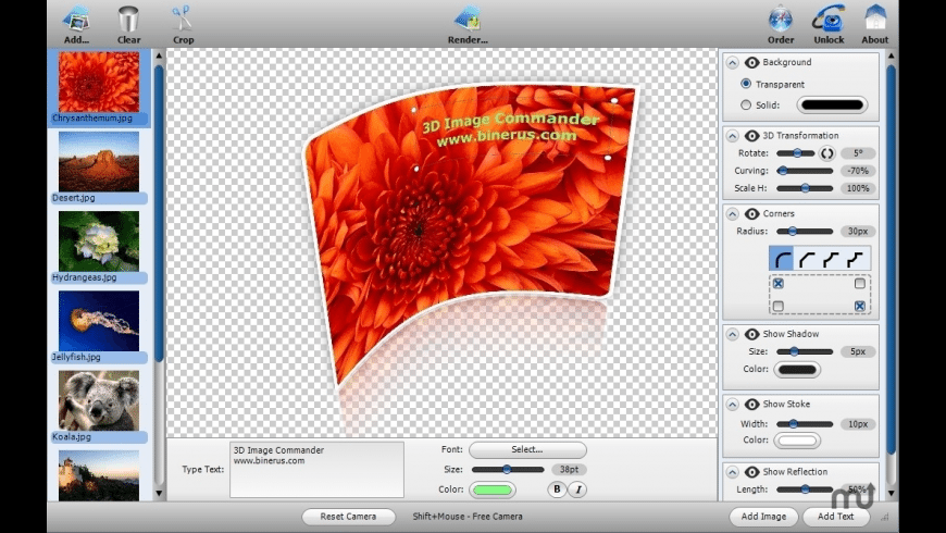 3D Image Commander for Mac - review, screenshots