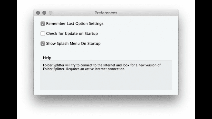 Folder Splitter for Mac - review, screenshots