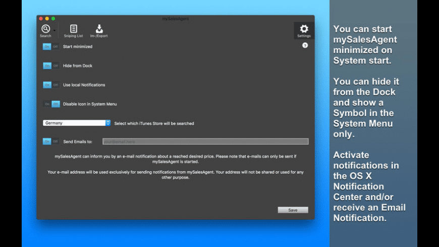mySalesAgent for Mac - review, screenshots