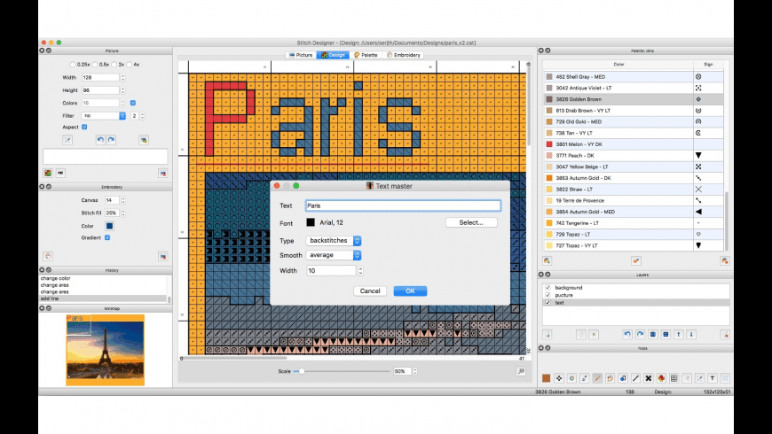 Stitch Designer for Mac - review, screenshots