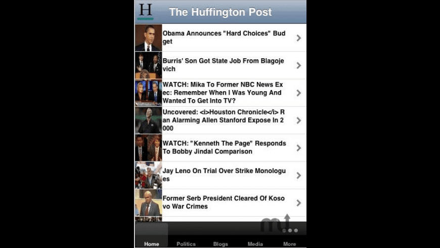 HuffingtonPost.com for Mac - review, screenshots