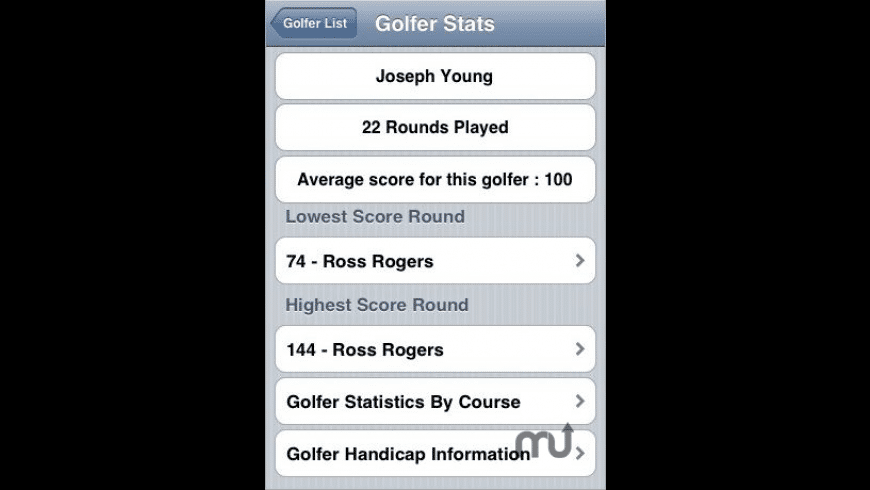 Golf Score and Handicap Tracker for Mac - review, screenshots