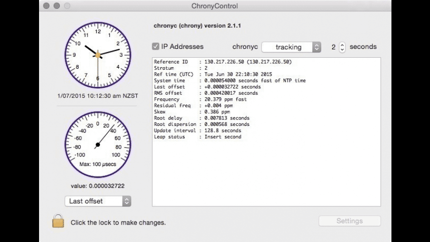 ChronyControl for Mac - review, screenshots