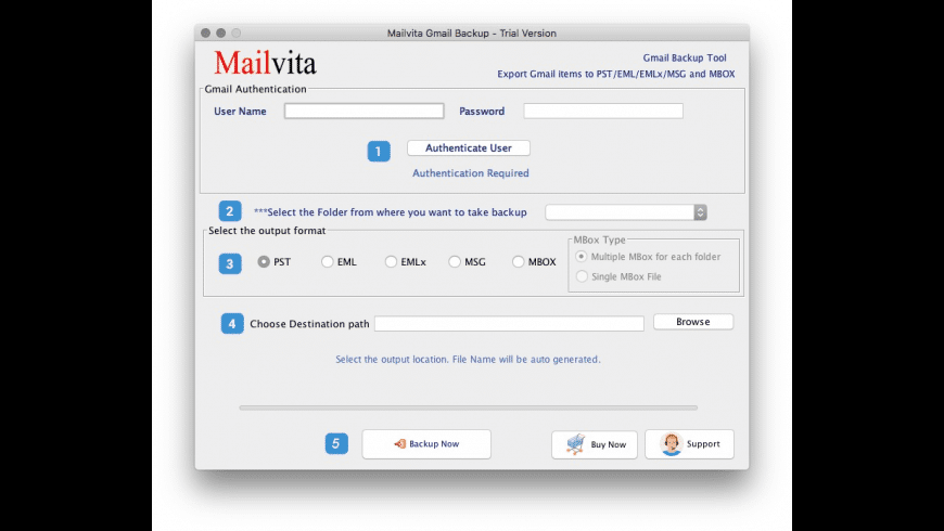 Gmail Backup for Mac - review, screenshots