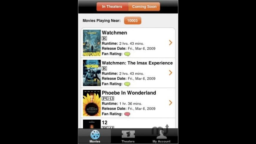 Fandango Movies for Mac - review, screenshots