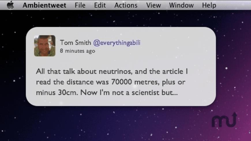 Ambientweet for Mac - review, screenshots