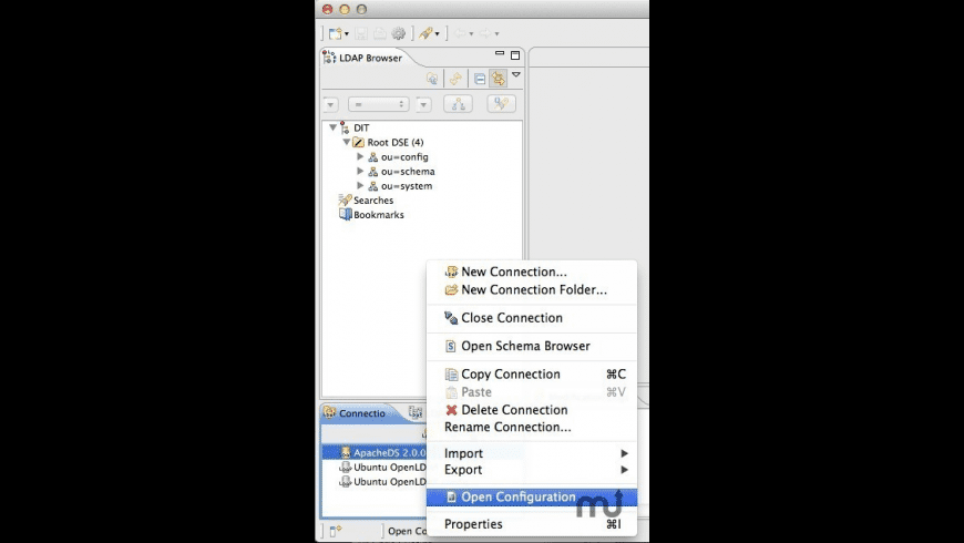 Apache Directory Studio for Mac - review, screenshots