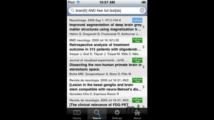 PubMed On Tap for Mac - review, screenshots